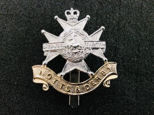 The Sherwood Foresters Anodised Cap Badge by Gaunt