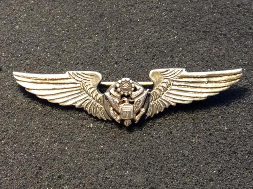 WW2 U.S.A.A.F Miniature Silver Air crew wings