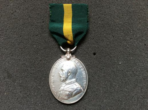 T.F.E Medal (1908-21) to 7575 SJT G.E. PUCKLE 5th LONDONS