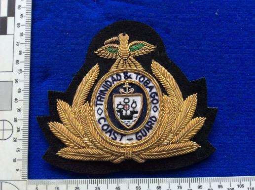 Trinidad & Tobago Coast Guard Officers Bullion Cap Badge