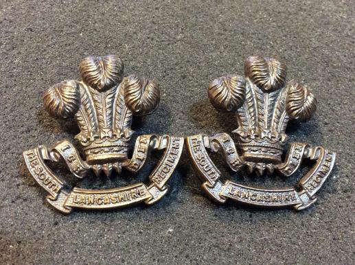 The south Lancashire Regiment Bronze OSD Collar badges