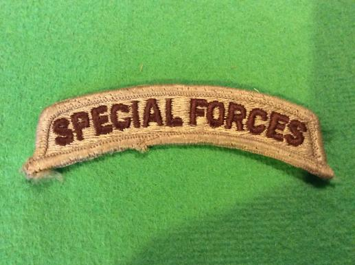 US Army SPECIAL FORCES desert pattern Shoulder title