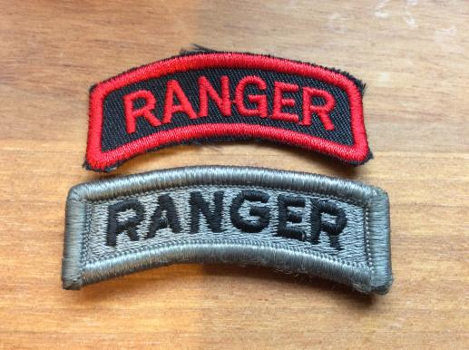 US Army RANGER Cloth tabs