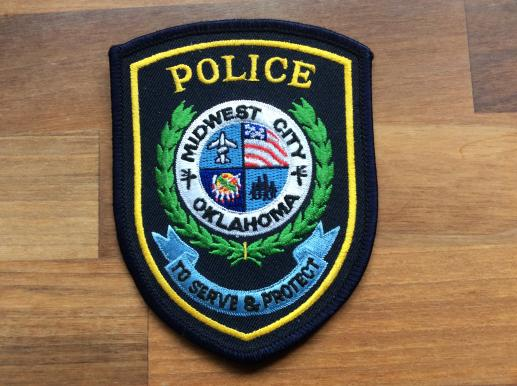 Midwest City Police Oklahoma Sleeve Patch
