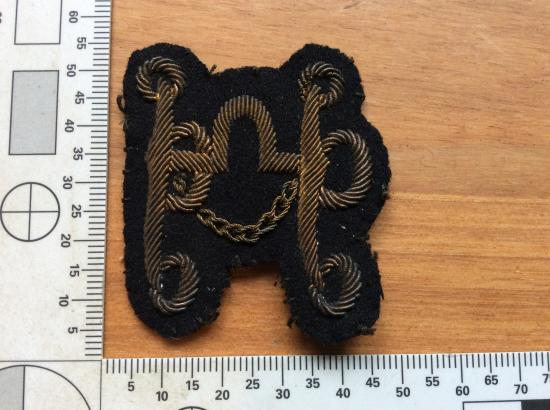 British Army saddlers, harness & Collar makers Bullion Sleeve badge